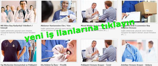 Sağlık Elemanları İş İlanı Tıp ve sağlık sektöründe hizmet veren Özel Sağlık Kurumları, Hastahaneler, Klinikler, Poliklinikler, Muayenehane